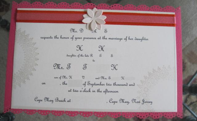 Home Reception After Destination Wedding Invitation Wording